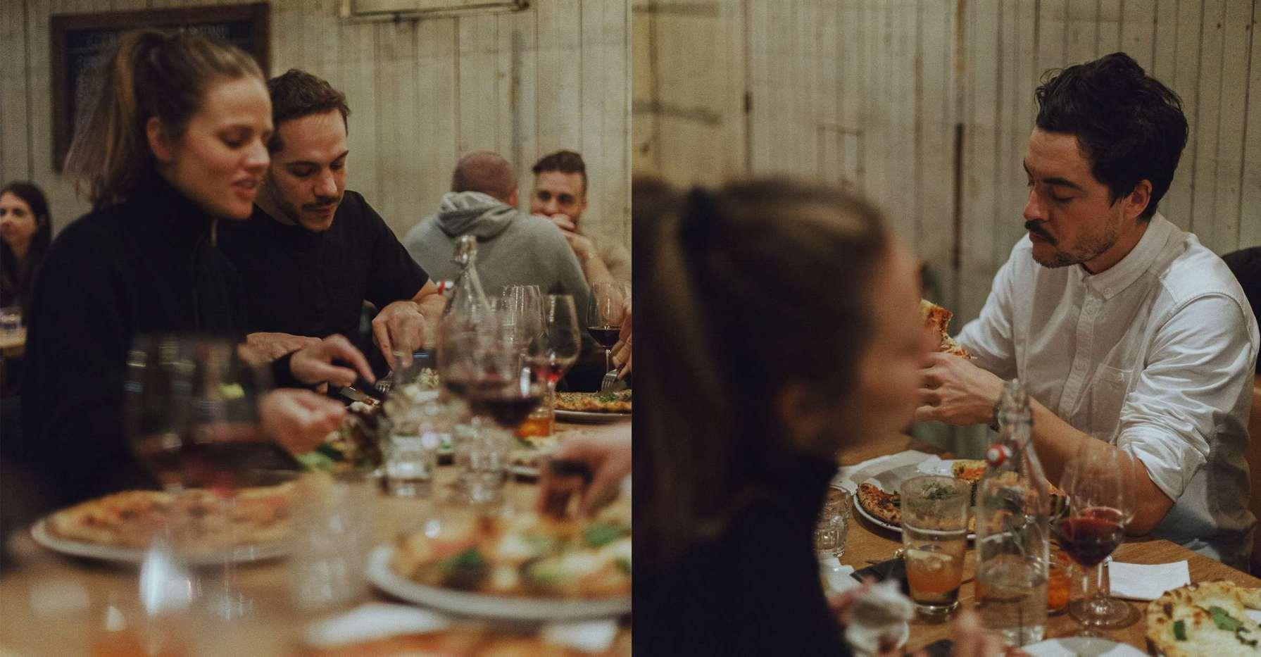 The Vallier team met up with Geoffroy's entourage at Gema's Pizzeria.